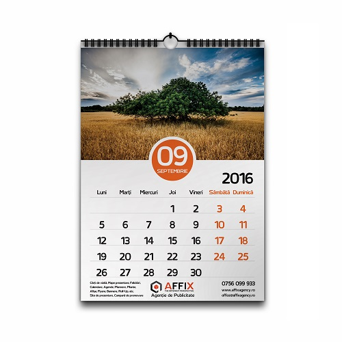 calendar perete a3 affix